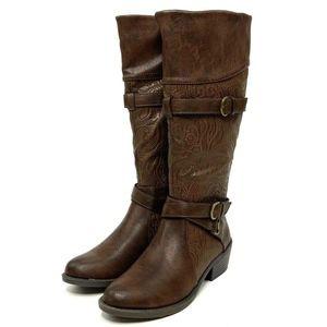 Easy Street Womens Kelsa Knee High Boot Brown 6N